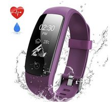 ANEKEN Fitness Tracker Activity Tracker with Heart Rate Monitor Bluetooth Smart Bracelet with Sleep Monitor Smart Watch for Android or iOSiphoneor Other SmartphonePurple