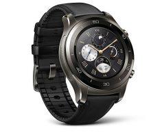 Huawei Watch 2 Classic Smartwatch  Ceramic Bezel Black Leather Strap(US Warranty)