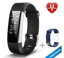 Lintelek Fitness Tracker Heart Rate Monitor Activity Tracker with Connected GPS Tracker Step Counter Sleep Monitor IP67 Waterproof Pedometer for Android and iOS Smartphone