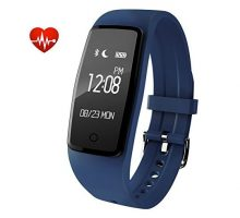 Waterproof Bluetooth Smart health bracelet with Heart Rate Monitor Pedometer Fitness Tracker Sleeping monitor Sport wristband Wrist Smart Watch compatible with Android IOS Smartphones