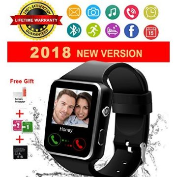 Bluetooth Smart Watch with Camera Touch Screen Smartwatch Unlocked Phone Smart Wrist Watch with Sim Card Slot Sports Watch for Android Smartphone iOS Apple Men Women Kids