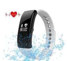 EWEMOSI Fitness Tracker  Heart Rate Blood Pressure Monitor  Bluetooth Wireless Smart Bracelet  Water Resistant Outdoor Activities Tracker  for Android iOS Smart Phones