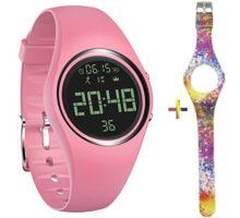 feifuns Fitness Tracker Smart Watch NonBluetooth Pedometer Bracelet Smart Sport Bracelet with Timer Step Calories Counter Distance Time Date Vibration Alarm for Walking Kids Women Men