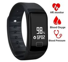 Fitness TrackerWaterproof Activity Tracker with Heart Rate Blood Pressure Blood Oxygen MonitorSmart Wristband with Calorie Counter Watch Pedometer Sleep Monitor Bluetooth Bracelet F1