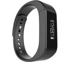 Juboury I5 Plus Wireless Sports Fitness Tracker with Pedometer Sleep Monitoring and Calories Track(Black)