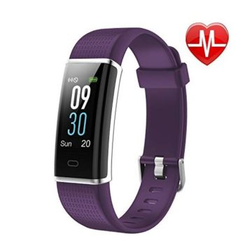 LETSCOM Fitness Tracker Heart Rate Monitor Watch with Color Screen IP68 Waterproof Step Counter Calorie Counter Sleep Monitor Pedometer Bluetooth Smart Watch for Kids Women and Men