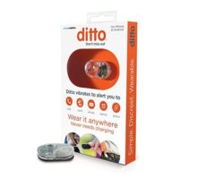 Simple Matters Ditto Vibrating Notification Device for People with Hearing Loss Waterproof iOS & Android Compatible Clear