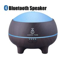 Essential Oil Diffuser Humidifier with Bluetooth Speaker Pure Aromatherapy LED Lights Wood Grain Color Pro Aroma Kit Diffuser 300ml Cold Water Vent Aroma Diffuser Oil for Home Kids Men Women Spa
