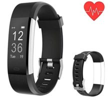 Fitness Tracker Smart Watch Bracelet Activity Tracker Watch Heart Rate Monitor Bluetooth Wireless Smart Bracelet with Replacement with Android and iOS
