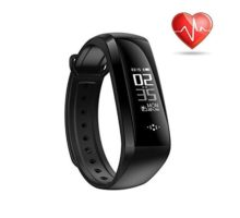 Heart Rate Monitor Bluetooth Fitness Tracker Activity Band Blood Pressure Sleep Monitor Waterproof Smart Bracelet for iOS & Android