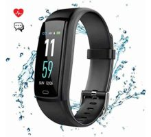 Mgaolo Fitness Tracker Smart Watch Activity Tracker Sports Band Bracelet Waterproof Bluetooth Wristband with Heart Rate Monitor Pedometer Sleep Monitor Calorie Step Counter Blood Pressure(Black)