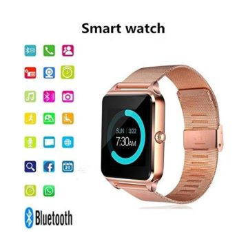 Onbio Bluetooth Smart Bracelet AllDay Heart Rate Sleep Sedentary Reminder Weather Sports Sweatproof 154 inch Full Color Smart Watch