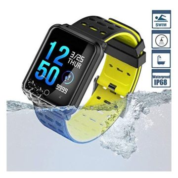 Smart Watch TagoBee TB06 IP68 Fitness Tracker for Swimming Bluetooth Waterproof Activity Tracker Smart Bracelet for Men Women Kids Smart Band Suport Pedometer Step Counter Blood Pressure Heart