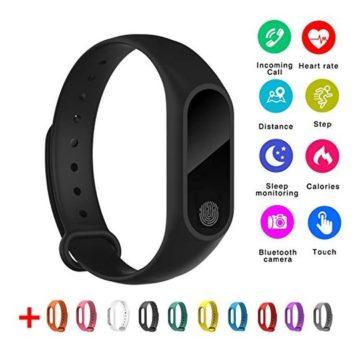 Aihome IP67 Smart Bracelet Black M2 Bluetooth 40 Waterproof Dust Proof Sport Wrist Bracelet Fitness Tracker WatchCalorie Counter Watch GPS Band