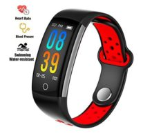 Fitness Tracker Watch Upgraded IP68 Swim Waterresistant HD Color Screen Smart Bracelet HR Blood Oxygen Pressure Calorie Sleep MonitorPedometer Activity Tracker BLE 40 for Android IOS