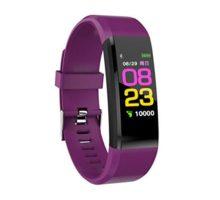 Leoie Smart Watch Heart Rate Blood Pressure Health Monitor Bluetooth Fitness Tracker Sport Bracelet Purple