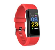 Leoie Smart Watch Heart Rate Blood Pressure Health Monitor Bluetooth Fitness Tracker Sport Bracelet red