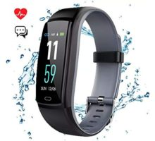 Mgaolo Fitness Tracker Smart Watch Activity Tracker Sports Band Bracelet Waterproof Bluetooth Wristband with Heart Rate Monitor Pedometer Sleep Monitor Calorie Step Counter Blood Pressure