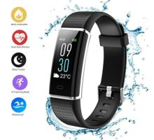 Teamyo Fitness Tracker HR Activity Tracker Watch Smart Bracelet with Heart Rate Monitor Color Screen with Step Counter Calorie Counter Pedometer Watch Waterproof Smart Band