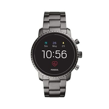Fossil Men Gen 4 Explorist HR Stainless Steel Touchscreen Smartwatch Color Smoke Grey