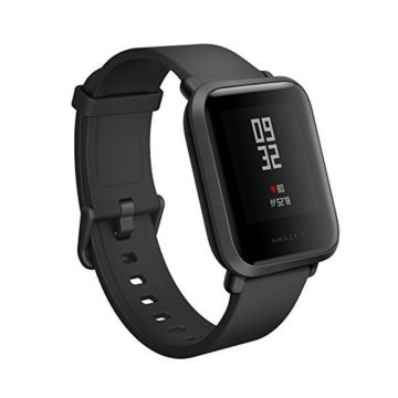 Amazfit Bip Smartwatch by Huami with AllDay Heart Rate and Activity Tracking Sleep Monitoring GPS UltraLong Battery Life Bluetooth US Service and Warranty  A1608 Black