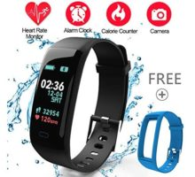 Fitness TrackerColor Screen Activity Tracker Watch with Blood Pressure Blood Oxygen IP67 Waterproof Smart Heart Rate Sleep with Monitor Calorie Counter Pedometer Band for Men Women and Kids