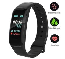 Fitness TrackerColor Screen Activity Tracker Watch with Blood Pressure Blood Oxygen IP67 Waterproof Smart Band with Heart Rate Sleep Monitor Calorie Counter Pedometer for Men Women and Kids