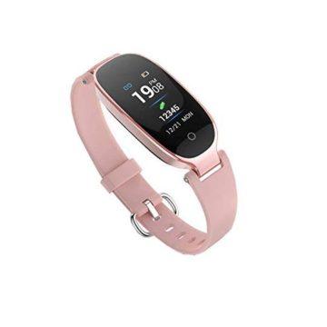 Fitness TrackerWomen Smart Fitness Watch Heart Rate Monitor Smart Bracelet IP67 Waterproof Smart Bracelet with Health Sleep Activity Tracker Pedometer for Smartphone
