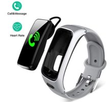 DEMAI Fitness Tracker Color Screen IP68 WaterResistant Smart Sports Bracelet with Bluetooth Headset Heart Rate Monitor Pedometer Sleep Monitor Calorie Step Counter Blood Pressure