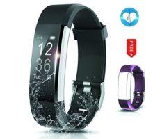 BADIQI Fitness Tracker Waterproof Activity Tracker Heart Rate Monitors Sleep Tracking Wireless Bluetooth Activity Tracker Smart Bracelet Pedometer Fitness Sports Wristbands