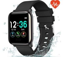 """L8star Fitness Tracker Heart Rate Monitor13"""" Large Color Screen IP67 Waterproof Activity Tracker with 6 Sports ModeSleep MonitorPedometer Smart Wrist Band for Women Men Android iOS"""
