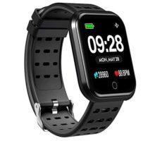Surpro Smart Watch Wearable Bluetooth Running GPS Fitness Tracker Watch with Heart Rate Monitor Waterproof Smart Wristband Pedometer Watch for Kids Woman Man Black