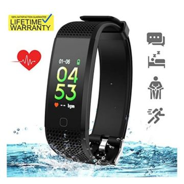 Updated 2019 Version Fitness Tracker HR Activity Trackers Health Exercise Watch with Heart Rate Blood Pressure Sleep Monitor Smart Band Calorie Step Counter Pedometer Walking for Women Men Kids