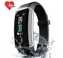ZyMaSh Fitness Tracker – Color Smart Watch – Heart Rate Fitness Tracker – IP68 Waterproof Fitness Watch – Fit Watch Tracker Pedometer for Men Women Kids – Activity Tracker
