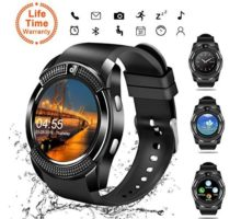 Smart Watch Bluetooth Smartwatch Touch Screen Wrist Watch with Camera SIM Card SlotWaterproof Smart Watch Sports Fitness Tracker Android Phone Watch Compatible with Android Phones Samsung