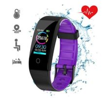 DKSPORT Fitness Tracker HR Activity Tracker Watch with Heart Rate Monitor IP68 Water Resistant Smart Bracelet with Sleep Monitor Calorie Counter Pedometer Watch for Kids Women and Men