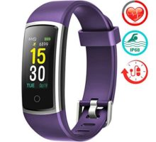 FITFORT Fitness Tracker with Blood Pressure HR Monitor  2019 Upgraded Activity Tracker Watch with Heart Rate Color Monitor IP68 Pedometer Calorie Counter and 14 Sports Tracking for Women Kids Men