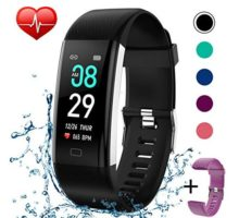 Fitness Tracker Activity Tracker Watch with Heart Rate Monitor Pedometer Waterproof Smart Watch Sleep Monitor Step Counter Calorie Counter for Kids Women and Men