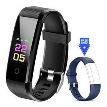 Fitness Tracker Waterproof  Fitness Watch with Heart Rate Blood Pressure Monitor Activity Tracker with Sleep Monitor Calorie Step Counter Smart Watch for Women Men Kids Compatible iPhone Android