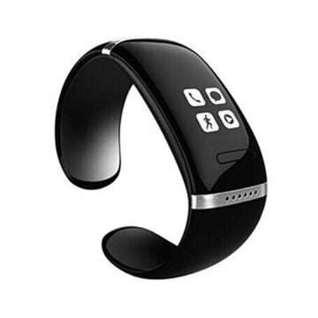 Gift Depot L12S Smart Bracelet Touch Screen Bluetooth Bracelet Pedometer Handsfree Phone Call Music Player for Android and iOS System Black