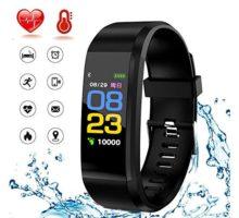 HK Fitness Tracker HRActivity Tracker Smart Watch Waterproof Smart Bracelet Wristband with Heart Rate Blood Pressure Sleep Monitor GPS Step Calorie Counter Pedometer for Kids Women Men