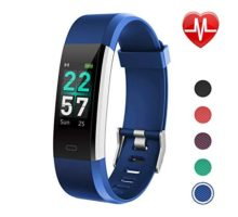 LETSCOM Fitness Tracker Color Screen Activity Tracker with Heart Rate Monitor Sleep Monitor Step Counter Calorie Counter IP68 Waterproof Smart Pedometer Watch for Men Women Kids