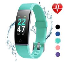 LETSCOM Fitness Tracker with Heart Rate Monitor Color Screen Activity Tracker Watch IP68 Waterproof Pedometer Watch Sleep Monitor Step Counter for Women Men and Kids