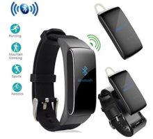 luckyruby 2 in 1 DF22 Bluetooth Headset Smart Bracelet Handsfree Smart Watch Fitness Headset Earphone for Android
