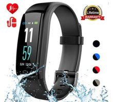 Mgaolo Fitness TrackerActivity Health Tracker Waterproof Smart Watch Wristband with Blood Pressure Heart Rate Sleep Monitor Pedometer Step Calorie Counter for Android and iPhone(Black)
