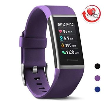 MorePro XCore Fitness Tracker HR Waterproof Color Screen Activity Tracker with Heart Rate Blood Pressure Monitor Smart Wristband Sleep Pedometer Watch with Step Calories Counter for Women and Men
