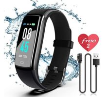 SIKADEER Fitness Tracker HR Activity Tracker Watch with Heart Rate Monitor IP68 Waterproof Health Tracker with Step Counter Calorie Counter GPS Watch for Kids Women and Men