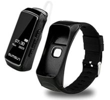 PADYWearable Technology B7 2 in 1 Bluetooth Smart Band Headset Talkband Heart Rate Monitor Pedometer Smart Bracelet Sports Wristband with Music Player Answer Call
