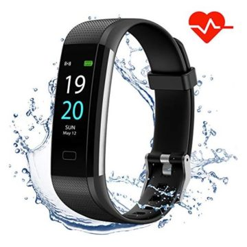 Akasma Fitness Tracker HR S5 Activity Tracker Watch with Heart Rate Monitor Pedometer IP68 Waterproof Sleep Monitor Step Counter for Women Men