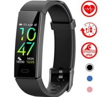 Mgaolo Fitness Tracker with Blood Pressure Heart Rate Sleep Monitor10 Sport Modes IP68 Waterproof Activity Tracker Fit Smart Watch with Pedometer Calorie Step Counter for Women Men Kids